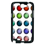 Button Icon About Colorful Shiny Samsung Galaxy Note 2 Case (Black) Front