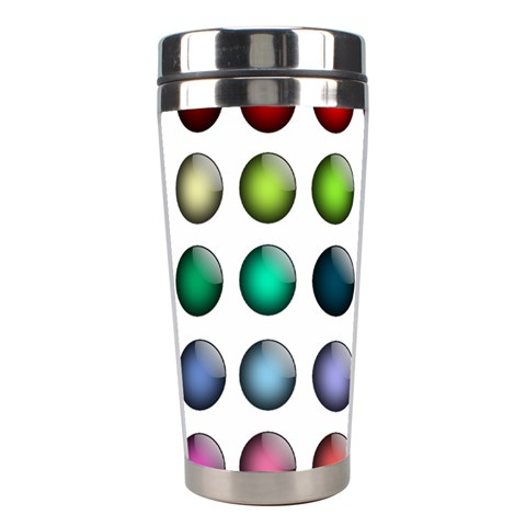 Button Icon About Colorful Shiny Stainless Steel Travel Tumblers