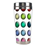Button Icon About Colorful Shiny Stainless Steel Travel Tumblers Left