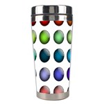Button Icon About Colorful Shiny Stainless Steel Travel Tumblers Center
