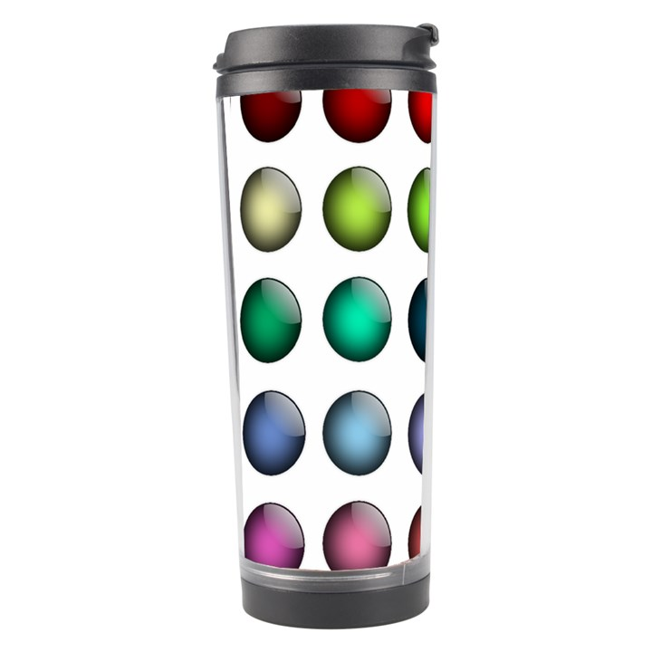 Button Icon About Colorful Shiny Travel Tumbler