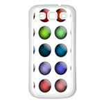 Button Icon About Colorful Shiny Samsung Galaxy S3 Back Case (White) Front