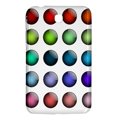Button Icon About Colorful Shiny Samsung Galaxy Tab 3 (7 ) P3200 Hardshell Case