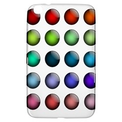 Button Icon About Colorful Shiny Samsung Galaxy Tab 3 (8 ) T3100 Hardshell Case