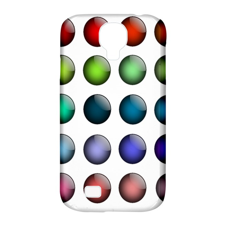 Button Icon About Colorful Shiny Samsung Galaxy S4 Classic Hardshell Case (PC+Silicone)