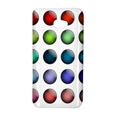 Button Icon About Colorful Shiny HTC Butterfly S/HTC 9060 Hardshell Case