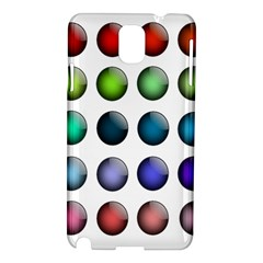 Button Icon About Colorful Shiny Samsung Galaxy Note 3 N9005 Hardshell Case