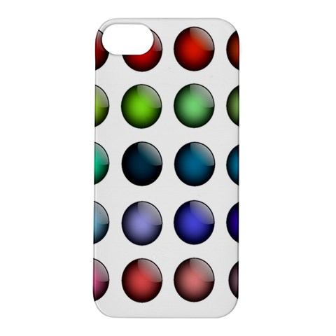 Button Icon About Colorful Shiny Apple iPhone 5S/ SE Hardshell Case