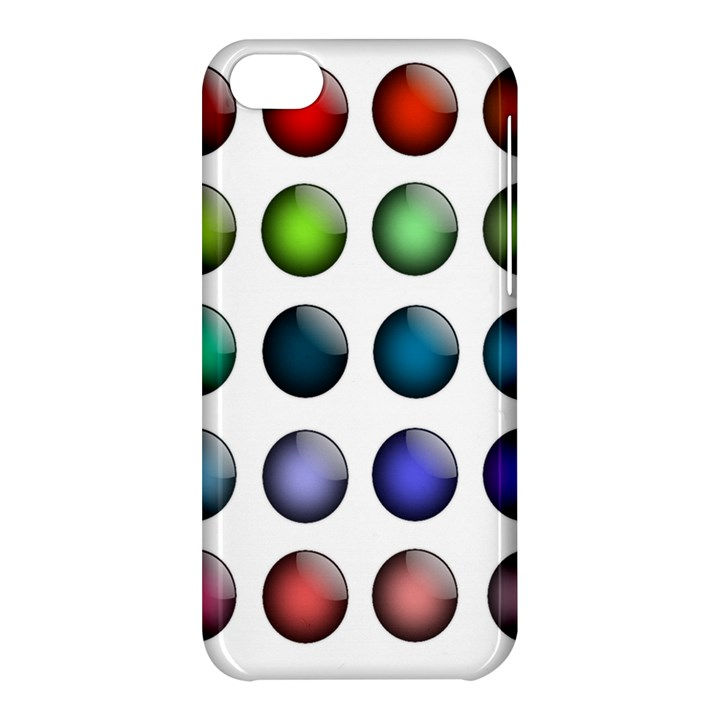 Button Icon About Colorful Shiny Apple iPhone 5C Hardshell Case