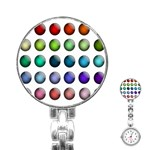 Button Icon About Colorful Shiny Stainless Steel Nurses Watch Front