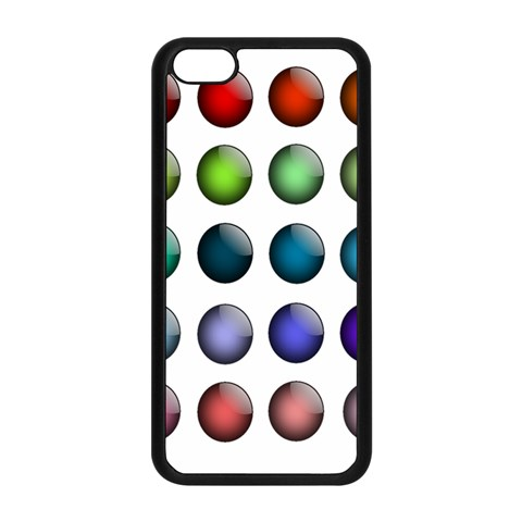 Button Icon About Colorful Shiny Apple iPhone 5C Seamless Case (Black)