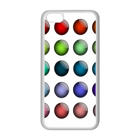 Button Icon About Colorful Shiny Apple iPhone 5C Seamless Case (White)
