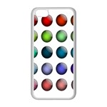 Button Icon About Colorful Shiny Apple iPhone 5C Seamless Case (White) Front