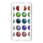 Button Icon About Colorful Shiny Samsung Galaxy Note 3 N9005 Case (White) Front
