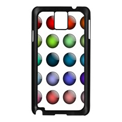Button Icon About Colorful Shiny Samsung Galaxy Note 3 N9005 Case (Black)