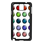 Button Icon About Colorful Shiny Samsung Galaxy Note 3 N9005 Case (Black) Front