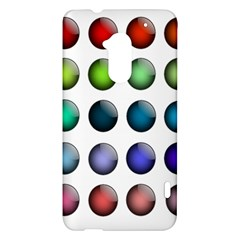 Button Icon About Colorful Shiny HTC One Max (T6) Hardshell Case
