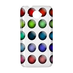Button Icon About Colorful Shiny HTC Desire 601 Hardshell Case