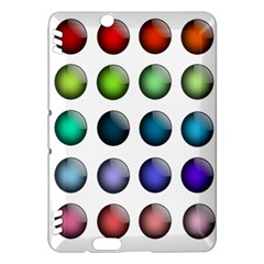 Button Icon About Colorful Shiny Kindle Fire HDX Hardshell Case