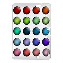 Button Icon About Colorful Shiny Kindle Fire HDX 8.9  Hardshell Case