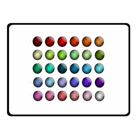 Button Icon About Colorful Shiny Double Sided Fleece Blanket (Small)