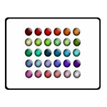 Button Icon About Colorful Shiny Double Sided Fleece Blanket (Small)  50 x40 Blanket Back