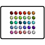 Button Icon About Colorful Shiny Double Sided Fleece Blanket (Large)  80 x60 Blanket Back