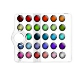 Button Icon About Colorful Shiny Kindle Fire HDX 8.9  Flip 360 Case Front