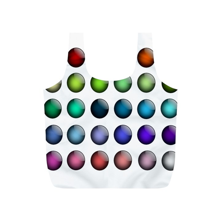 Button Icon About Colorful Shiny Full Print Recycle Bags (S)