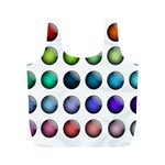 Button Icon About Colorful Shiny Full Print Recycle Bags (M)  Back