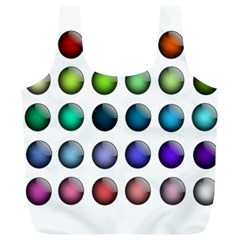 Button Icon About Colorful Shiny Full Print Recycle Bags (L)