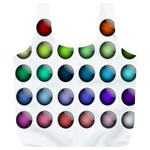 Button Icon About Colorful Shiny Full Print Recycle Bags (L)  Back