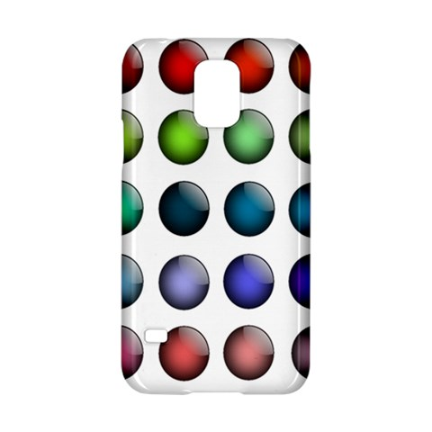 Button Icon About Colorful Shiny Samsung Galaxy S5 Hardshell Case