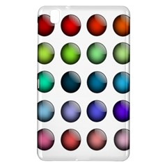 Button Icon About Colorful Shiny Samsung Galaxy Tab Pro 8.4 Hardshell Case