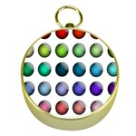 Button Icon About Colorful Shiny Gold Compasses Front