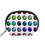 Button Icon About Colorful Shiny Accessory Pouches (Small)  Front