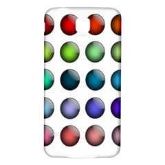 Button Icon About Colorful Shiny Samsung Galaxy S5 Back Case (White)