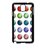 Button Icon About Colorful Shiny Samsung Galaxy Note 3 Neo Hardshell Case (Black) Front