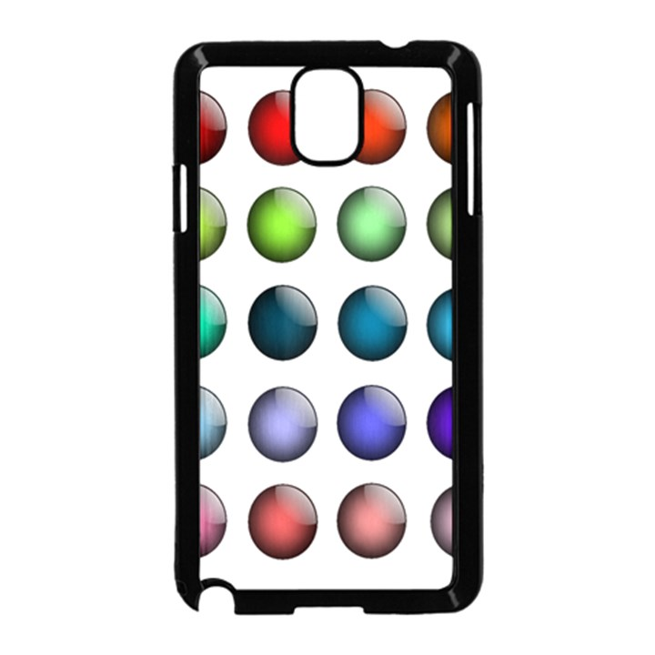 Button Icon About Colorful Shiny Samsung Galaxy Note 3 Neo Hardshell Case (Black)