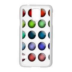 Button Icon About Colorful Shiny Samsung Galaxy S5 Case (White)