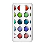Button Icon About Colorful Shiny Samsung Galaxy S5 Case (White) Front