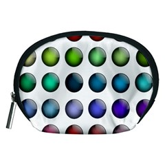Button Icon About Colorful Shiny Accessory Pouches (Medium)