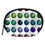 Button Icon About Colorful Shiny Accessory Pouches (Medium)  Front