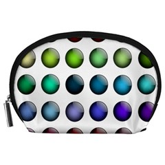 Button Icon About Colorful Shiny Accessory Pouches (Large)
