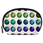 Button Icon About Colorful Shiny Accessory Pouches (Large)  Front