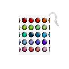 Button Icon About Colorful Shiny Drawstring Pouches (Small)
