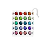 Button Icon About Colorful Shiny Drawstring Pouches (Small)  Front