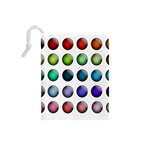 Button Icon About Colorful Shiny Drawstring Pouches (Small)  Back