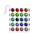 Button Icon About Colorful Shiny Drawstring Pouches (Medium)  Back