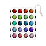 Button Icon About Colorful Shiny Drawstring Pouches (Large)  Front
